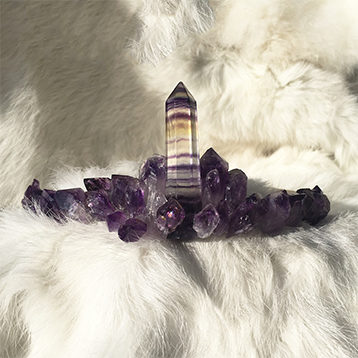 Fluorite and Amethyst Crown